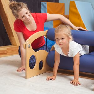 Physical activities for child during sensory integration therapy with professional therapist